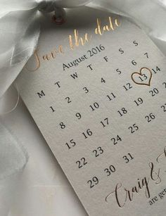 It is all about Rose Gold this summer. Why not take it to the next level with rose gold lettering on save the dates? Just a little idea..