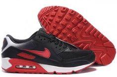 promo code 81f6e 284ef Nike Air Max 90 Schwarz Rot Weiß Herren Schuhe