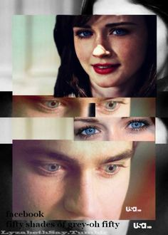 matt bomer and alexis bledel as christian grey and anastasia steele