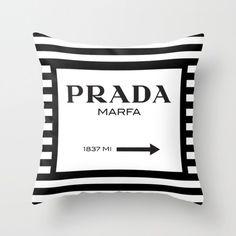 Gossip Girl Prada Marfa Sign Black Throw Pillow By Art