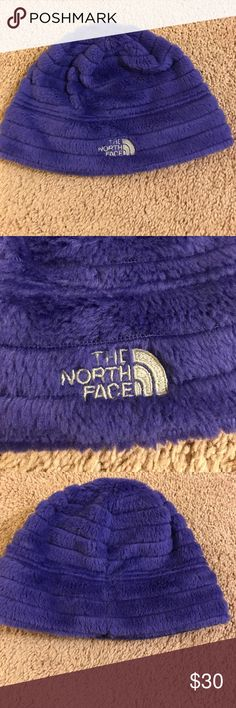 North Face Beanie Super soft purple North Face beanie with silver logo stitching! ❄️☃️Never worn! North Face Accessories Hats