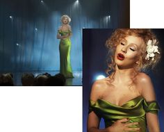Love christina's green dress in Burlesque. She has an amazing body. whattabitch