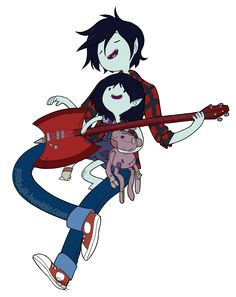 Genderbent and Younger version Marshall Lee and Marceline