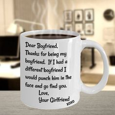 Boyfriend Mug For Men Boyfriend Gifts for Him Face Punch Mug For Him Inappropriate Gift For Christmas Gag Gifts for Men Funny Coffee Mug Tea Sexy Gifts, Funny Gifts, Gag Gifts, Funny Coffee Mugs, Coffee Humor, Funny Mugs, San Valentin Gifts, Boyfriend Humor, Boyfriend Gifts