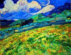 Vincent van Gogh - Mountainous Landscape Behind Saint-Rémy, 1889 - Musée de O'rsay -- Paris, France