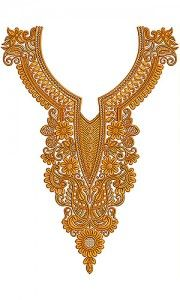 Now you can enjoy our Premium Range Embroidery Designs of Neck Embroidery Neck Designs, Diy Embroidery, Embroidery Patterns, Cotton Crochet, Irish Crochet, Arab Fashion, Gold Work, Embroidery Fashion, Beautiful Patterns
