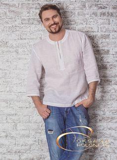 Сорочка з льону біла, фото 1