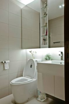 bathroom, modern, The Interior Lab, water closet, washstand, white, | more from…