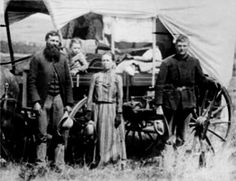 Oregon Trail pioneers. These people weren't looking to make a fashion statement; they were looking for a better life and a way West against incredible odds. They wore what worked...oregon trail - Google Search