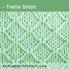 Trellis Stitch. Free Knitting Pattern includes written instructions and video tutorial.
