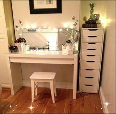 Gorgeous makeup storage!