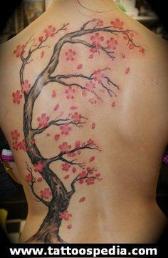 Cherry Blossom Tattoo 8 - http://tattoospedia.com/cherry-blossom-tattoo-8/