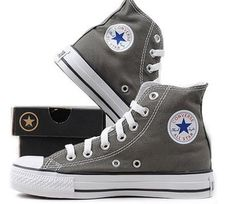 Converse All Star High Tops in Charcoal Gray. Yes please #exmaslist size 10 in women please