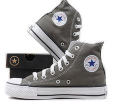 grey hightop converse