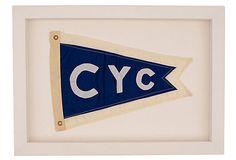 Vintage Nylon & Cotton Yacht Club Flag  - Cohasset Yacht Club 779