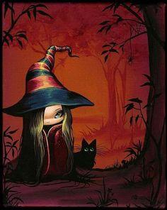 Little Black Cat Witch by Nico Niemi