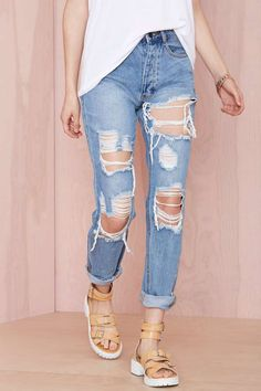 Distressing Me Out Jeans