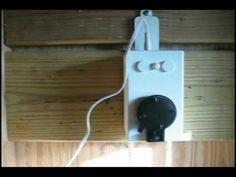Automatic chicken coop door opener using a drapery type for D20 chicken coop motor door