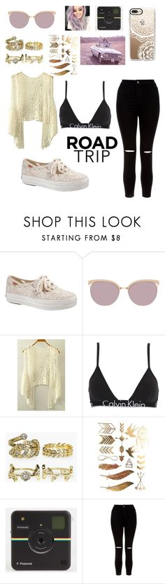 """""""ROAD TRIP"""" by juilet13 ❤ liked on Polyvore featuring Keds, Balmain, Calvin Klein Underwear, Boohoo, New Look and Casetify"""