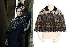 RQ-BL Gothic Lolita Umhang Vintage Cape Jacket Victorian Poncho Steampunk SP118