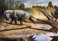 early proto-mammal and phytosaur houston museum of natural science USA by Bruce Aleksander & Dennis Milam, via Flickr