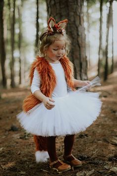 Fox Tutu Skirt, White Tutu, Halloween Tutu, Halloween Skirt, Halloween Costume, Knot Sew Photogenic, Avry Couture Creations Collab