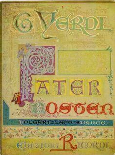10 ottobre 2013 ORE 0 : 13 = 200° COMPLEANNO di GIUSEPPE VERDI in collezione Carlo Lamberti: 201 ° compleanno di GIUSEPPE VERDI : PATER NOSTER ...