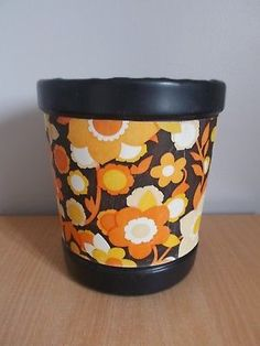 Vintage Retro Orange Floral Plastic Paper Bin 1970's 1970s Childhood, My Childhood Memories, Family Memories, Childhood Toys, Unique Vintage, Vintage Toys, Retro Vintage, Vintage Retro Bedrooms, Alpine Mountain
