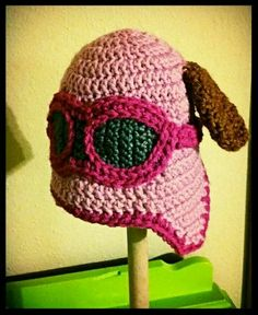 Paw Patrol Skye crochet baby hat from The Green Weasel on fb and Etsy