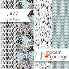 Jazz fabric collection by Liz Ablashi for Modern Yardage. Available at www.modernyardage.com | #modernyardage #fabric #quilting #sewing