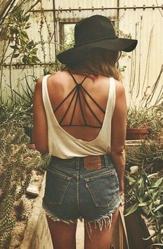 strappy bras + low back tanks #freepeople