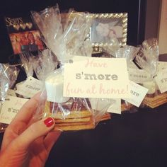 s'mores party favors, winter ONEderland party, winter party, first birthday party