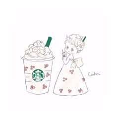Pretty Art, Cute Art, Walt Disney, Starbucks Logo, Cute Kawaii Drawings, Cute Doodles, Cute Backgrounds, Kawaii Wallpaper, Cosplay