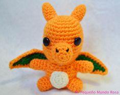 Charizard de Pokemon - Patrón Gratis en Español é Inglés aquí: http://mipequenomundorosa.blogspot.com.es/2015/08/charizard-crochet-patron-en-espanol-e.html