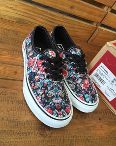vans authentic floral 39