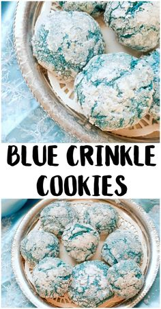 If you need recipes for the best cookie ideas, look no further. Whether you're baking Christmas cookies for a cookie exchange or just trying to get the kids in the kitchen, these Blue Crinkle Cookies (Recipes To Try Cookies) Cookie Recipes For Kids, Holiday Cookie Recipes, Cookies For Kids, Fun Cookies, How To Make Cookies, Cookie Ideas, Dessert Recipes, Unique Cookie Recipes, Sugar Cookies