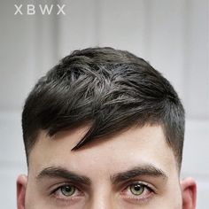 Bangs are back for men. #newhairstylesformen #menshair #menshairstyles #menshaircut #menshair2018 #menshairtrends #crophaircut #shorthairmen