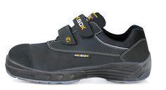 Model M5 fra HKSDK er udstyret med aluminium-tåkappe og integreret sømværn. Denne all-round sko har Velcro-lukning og ekstremt bløde og fleksible såler, som er 4. generation af den velkendte HKSDK AIR-sål.