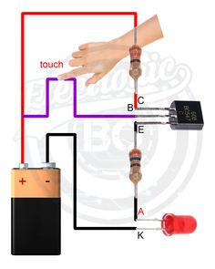 & The post touch sensor. & & Elektroniken appeared first on Electronique . Electronics Projects, Simple Electronics, Electronic Circuit Projects, Electrical Projects, Electrical Installation, Electronics Components, Electronic Engineering, Arduino Projects, Electrical Engineering