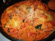 Homemade Lobster Ravioli in a Tomato Cream Recipe from Paggi Pazzo