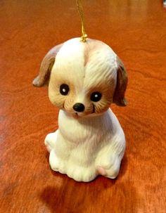 Vintage Puppy Dog Bell Porcelain L'il by PopcornVintageByTann #voguet #vogueteam