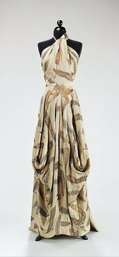 ~Charles James Dress - 1936 - by Charles James (American, born Great Britain, 1906-1978) - Silk, metal - The Metropolitan Museum of Art~