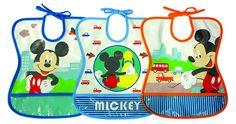 Tomy Y10100 - Babero impermeable, 6 meses de edad, una variedad de diseños, la razón: Mickey Mouse: Amazon.es: Bebé