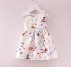 2015 Princess Babies Girls Flower Print Jacquard Patchwork Party Dresses Sleeveless Ruffles Christmas Fall Casual Dresses From Smartmart, $62.33 | Dhgate.Com