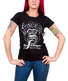 Texas Black//Schwarz Gas Monkey Garage Fast N´ Loud Shirt Top Damen Dallas