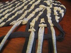 How to Make a No-Sew Rag Rug