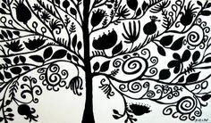 My Creative Life: Tree Silhouette Painting