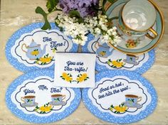 Tea Mug Rugs - 5x7 | What's New | Machine Embroidery Designs | SWAKembroidery.com Oma's Place