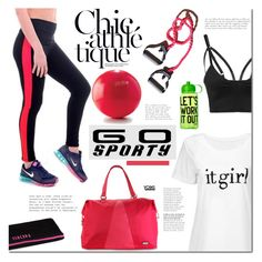 """Go sporty!"" by mada-malureanu ❤ liked on Polyvore featuring Hadaki, Victoria's Secret PINK and sportystyle"