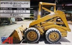 BIDDING NOW! Tuesday 4/26 at 7:00pm 28 LOT(S) in NY  1982 Skid Steer, Assorted Trucks & Cars, Flatbed Trailer, Tractors, Rotary 30,000lb Above Ground Lift, Midland Road Widener, Root Snow Blower, Plows Service Parts & More      1982 New Holland L-325 Skid -Steer Wheel Loader     1990 International Navistar 4700 (4 x 2) Tilting Flatbed     2005 Ford Focus ZX4 Four Door Sedan     2003 Ford F350 XL Super Duty Utility Body     1972 Ford Model 3000 Tr New Holland Skid Steer, Flatbed Trailer, Skid Steer Loader, Ford Models, Ford Focus, Rotary, Sperrys, Tractors, Monster Trucks
